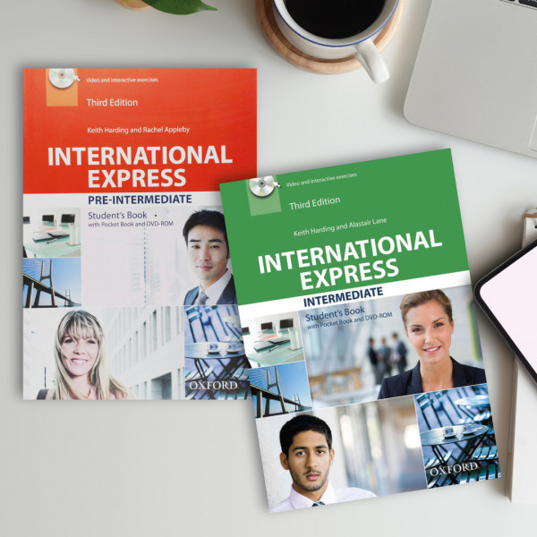 Cambridge English books International Express pre-intermediate and intermediate